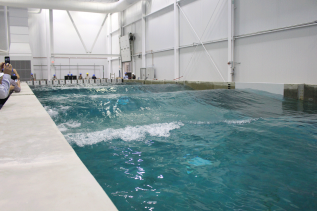 Model Floating Wind Turbine Basin Testing at UMaine